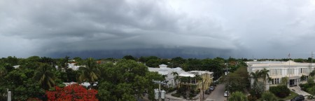 "Image from the National Weather Service office in Key West on June 2, 2013. From Twitter: ""An image taken at 1215 PM of a shelf cloud as it moved through the shipping channel SW of Key West.t"""